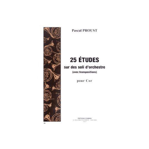 COMBRE PROUST PASCAL - ETUDES SUR DES SOLI D'ORCHESTRE AVEC TRANSPOSITION (25) - COR