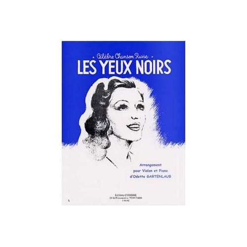 COMBRE LES YEUX NOIRS (CHANSON RUSSE) - VIOLON ET PIANO