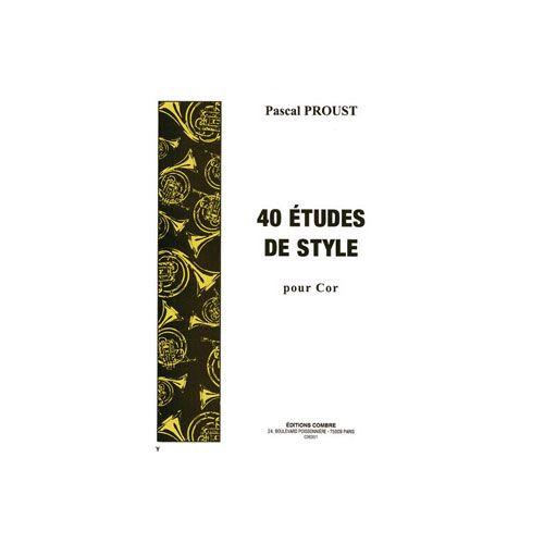 COMBRE PROUST PASCAL - ETUDES DE STYLE (40) - COR