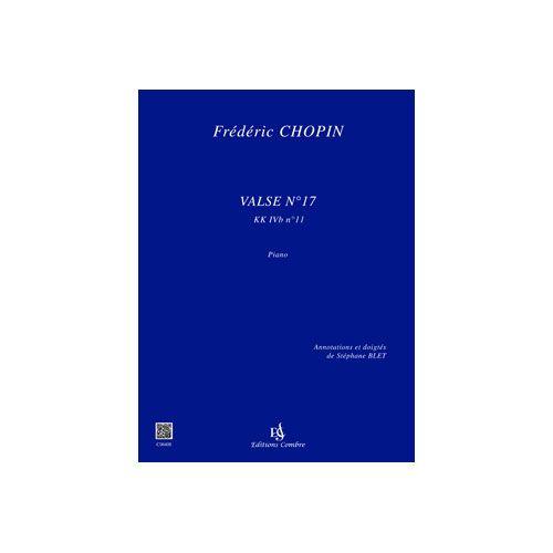 COMBRE CHOPIN FREDERIC - VALSE N.17 (KK IVB N.11) - PIANO