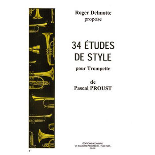 COMBRE PROUST P. - 34 ETUDES DE STYLE - TROMPETTE