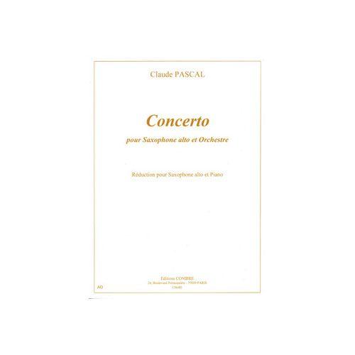 COMBRE PASCAL CLAUDE - CONCERTO POUR SAXOPHONE ALTO - SAXOPHONE ET PIANO (REDUCTION)