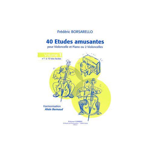 COMBRE BORSARELLO FREDERIC - ETUDES AMUSANTES VOL.1 - VIOLONCELLE ET PIANO