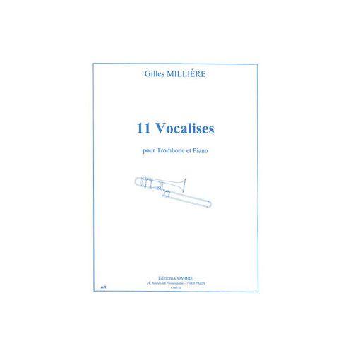 COMBRE MILLIERE GILLES - VOCALISES (11) - TROMBONE ET PIANO