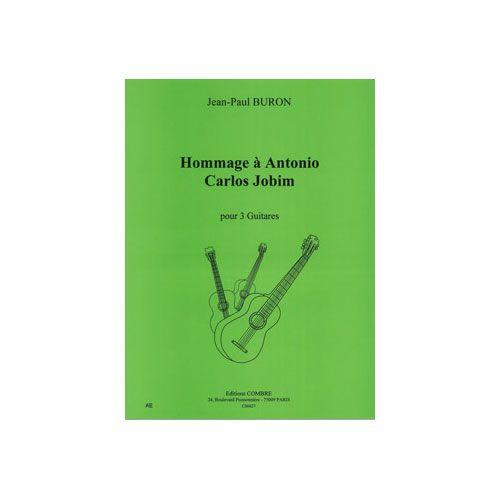 COMBRE BURON JEAN-PAUL - HOMMAGE A ANTONIO CARLOS JOBIM - 3 GUITARES