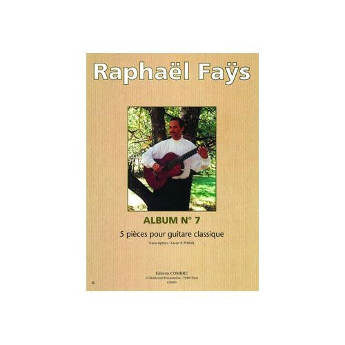 COMBRE FAYS RAPHAEL - ALBUM N.7 (5 PIECES) - GUITARE