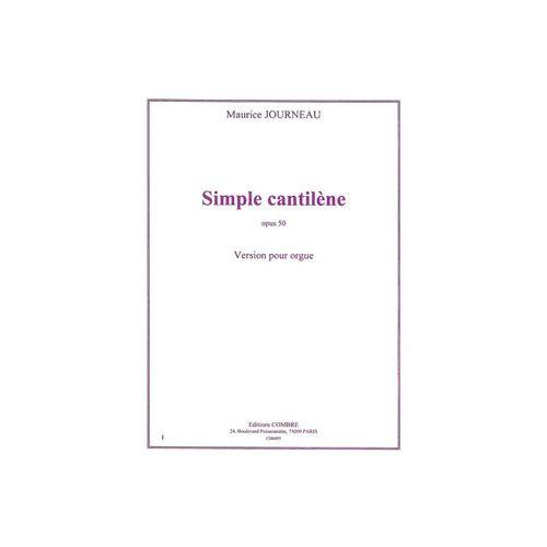 COMBRE JOURNEAU MAURICE - SIMPLE CANTILENE OP.50 - ORGUE