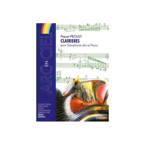 COMBRE PROUST PASCAL - CLAIRIERES - SAXOPHONE ALTO ET PIANO