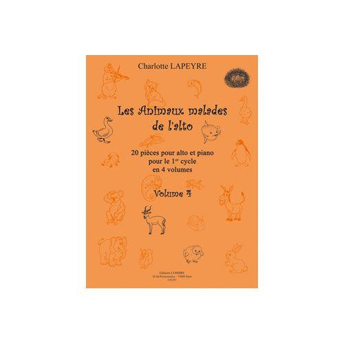 COMBRE LAPEYRE CHARLOTTE - LES ANIMAUX MALADES DE L'ALTO VOL.4 - ALTO ET PIANO