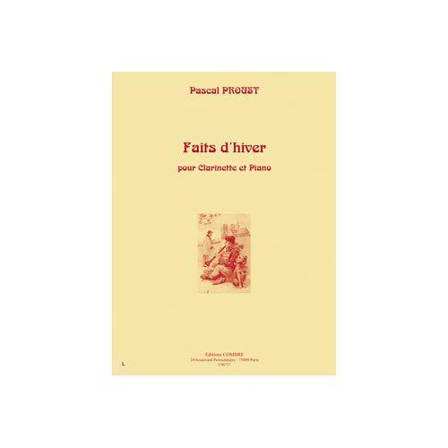 COMBRE PROUST PASCAL - FAITS D'HIVER - CLARINETTE ET PIANO