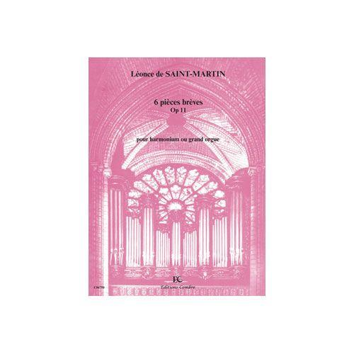 COMBRE SAINT-MARTIN LEONCE DE - PIECES BREVES (6) OP.11 - HARMONIUM OU GRAND ORGUE