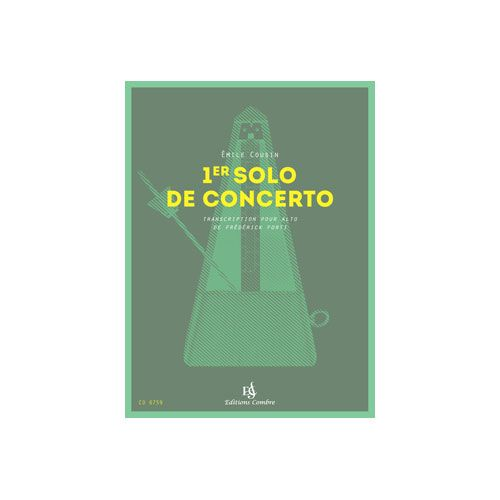 COMBRE COUSIN EMILE - 1ER SOLO DE CONCERTO - ALTO ET PIANO