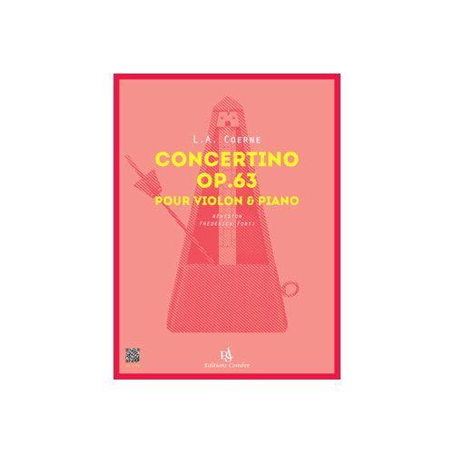 COMBRE COERNE LOUIS ADOLPHE - CONCERTINO OP.63 - VIOLON ET PIANO