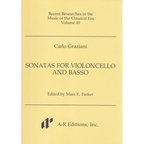 A-R EDITIONS GRAZIANI C. - SONATAS FOR VIOLONCELLO AND BASSO