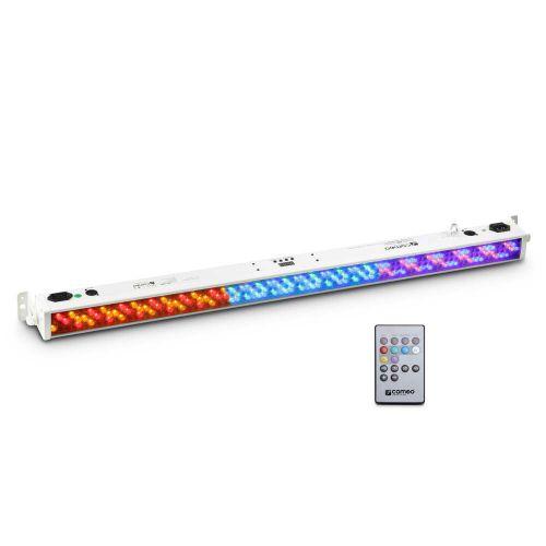 CAMEO 252 X 10 MM LED RGB COLOUR BAR WEISS MIT IR-FERNSTEUERUNG