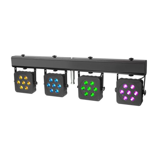 CAMEO KOMPAKTE 28 X 3 W TRI COLOUR LED LICHTANLAGE INKL. TRANSPORTCASE