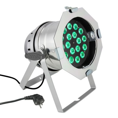 CAMEO 18 X 8W QUAD COLOUR LED RGBW PAR LIGHT IN POLISHED HOUSING