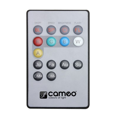 CAMEO INFRARED REMOTE CONTROL FOR FLAT PAR CAN PROJECTOR
