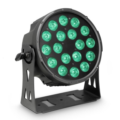 CAMEO 18 X 10 W FLAT LED RGBWA PAR SCHEINWERFER IN SCHWARZEM GEHÄUSE