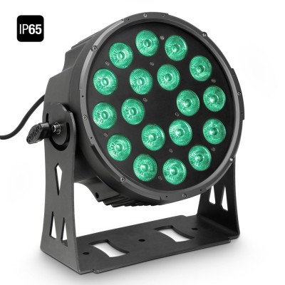 CAMEO 18 X 10 W FLAT LED OUTDOOR RGBWA PAR LIGHT IN BLACK HOUSING