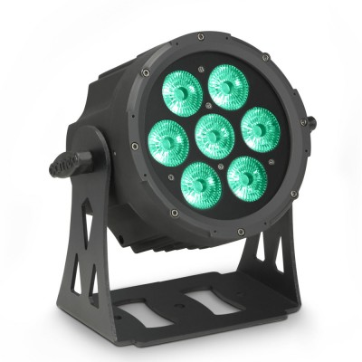 CAMEO 7 X 10 W FLAT LED RGBWA PAR LIGHT IN BLACK HOUSING