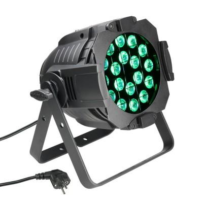 CAMEO 18 X 8W QUAD COLOUR LED RGBW PAR SCHEINWERFER IN SCHWARZEM GEHÄUSE