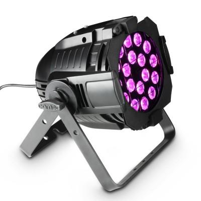 CAMEO 18 X 8W QUAD COLOUR LED RGBA PAR LIGHT IN BLACK HOUSING