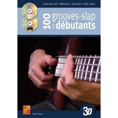 PLAY MUSIC PUBLISHING TAUZIN B. - 100 GROOVES EN SLAP DEBUTANT A LA BASSE EN 3D + CD + DVD