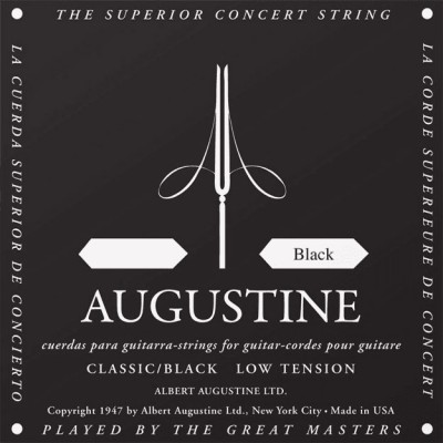 AUGUSTINE AUGUSTINE CLASSIC STRING STANDARD REPLENISHMENT BY 12 PIECES 4TH NYLON BLACK