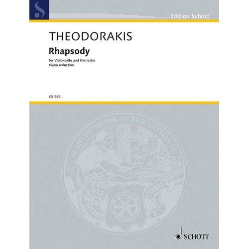 SCHOTT THEODORAKIS M. - RHAPSODY - VIOLONCELLE
