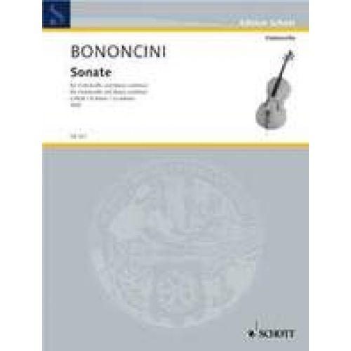 SCHOTT BONONCINI - SONATE A MINOR - VIOLONCELLE & BC
