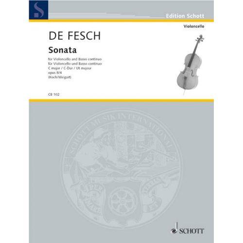 SCHOTT FESCH WILLEM DE - SONATA OP.8 - CELLO AND BASSO CONTINUO