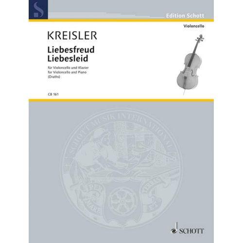 SCHOTT KREISLER FRITZ - LIEBESFREUD - LIEBESLEID - CELLO AND PIANO