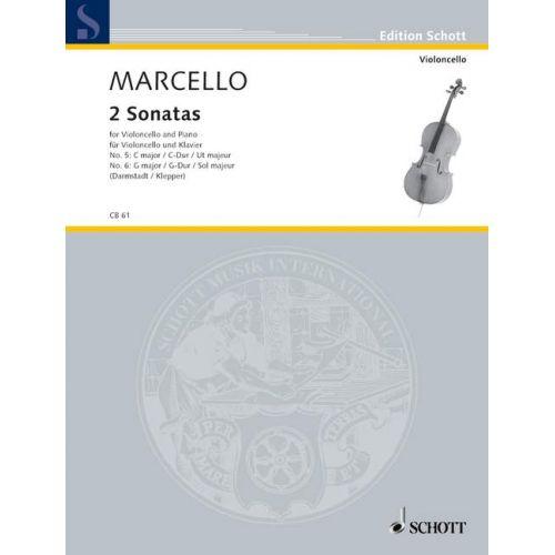 SCHOTT MARCELLO B. - 2 SONATAS - CELLO AND PIANO