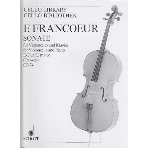 SCHOTT FRANCOEUR F. - SONATE EN MIB MAJEUR - VIOLONCELLE ET PIANO