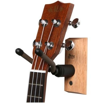 STRING SWING SUPPORT MURAL UKULELE MANDOLINE Woodbrasscom - Porte guitare mural