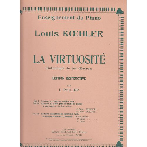 BILLAUDOT KOEHLER LOUIS - LA VIRTUOSITE VOL.1 - PIANO