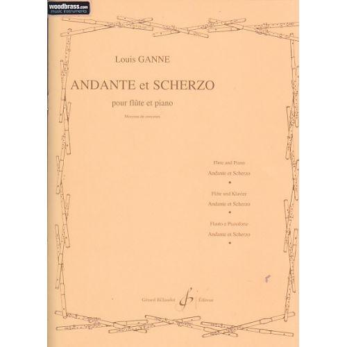 BILLAUDOT GANNE LOUIS - ANDANTE ET SCHERZO - FLUTE, PIANO