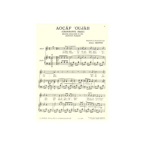 COMBRE CHOTTIN ALEXIS - AOCAF OUJAB (CHARMANTE IMAGE) - CHANT ET PIANO