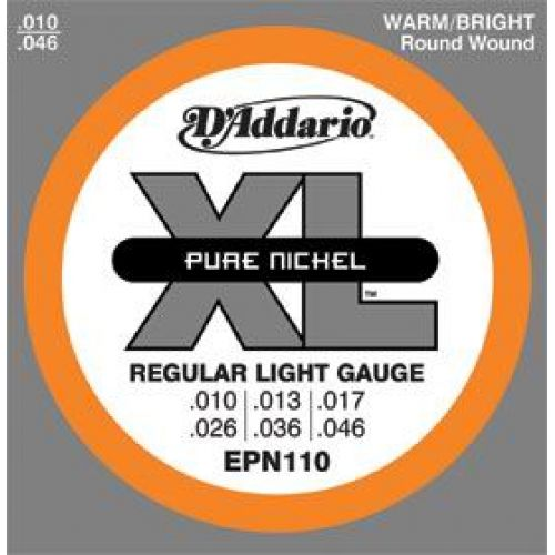 D'ADDARIO AND CO PURE NICKEL EPN110 10 13 17 25 35 45