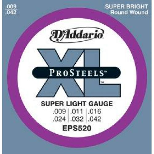 D'ADDARIO AND CO PROSTEEL EPS520 9 11 16 24 32 42