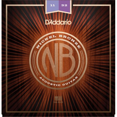 D'ADDARIO AND CO NICKEL BRONZE CUSTOM LIGHT, 11-52