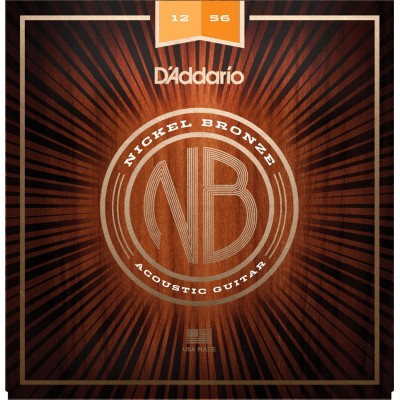 D'ADDARIO AND CO NICKEL BRONZE LIGHT TOP / MED BOTTOM, 12-56