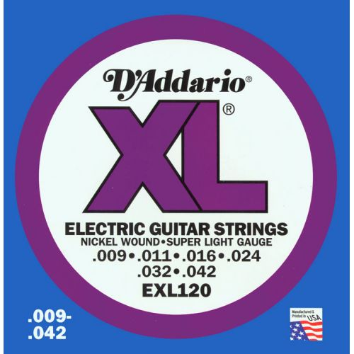 D'ADDARIO AND CO EXL 120 9 11 16 24 32 42