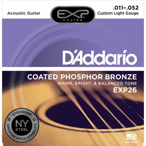 D'ADDARIO AND CO EXP26 NY 11-52 CUSTOM LIGHT PHOSPHOR BRONZE