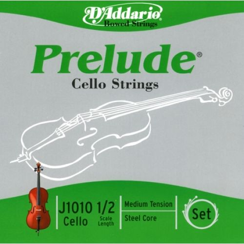 D'ADDARIO AND CO 1/2 PRELUDE CELLO STRINGS SET MEDIUM TENSION J1010-1/2M