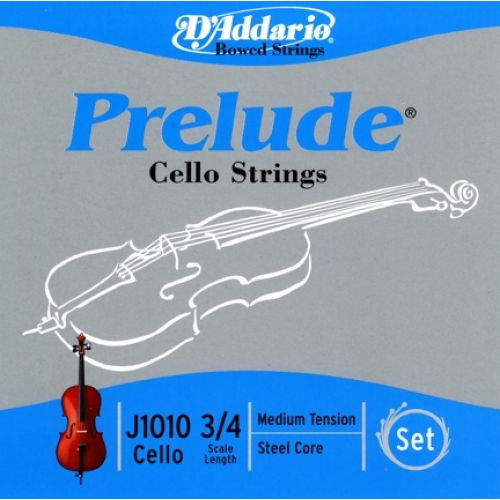 D'ADDARIO AND CO 3/4 PRELUDE CELLO SET STRINGS MEDIUM TENSION J1010M