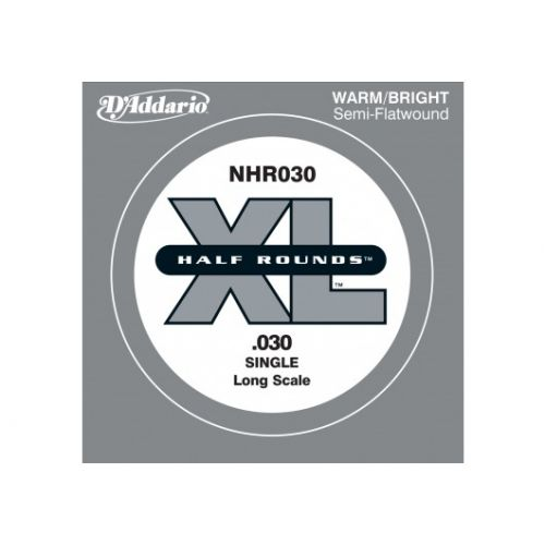 D'ADDARIO AND CO NHR030 HALF ROUND BASS GUITAR SINGLE STRING LONG SCALE .030