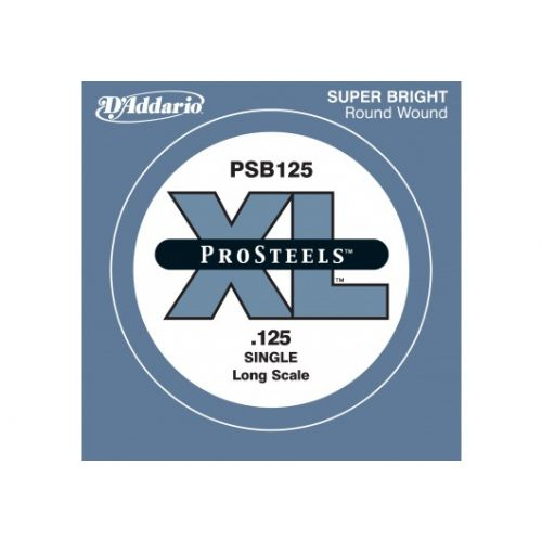 D'ADDARIO AND CO PSB125 PROSTEELS BASS GUITAR SINGLE STRING LONG SCALE .125