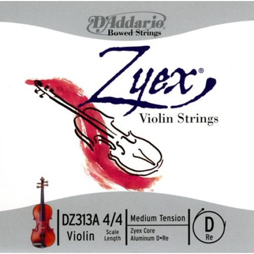 D'ADDARIO AND CO 4/4 ZYEX VIOLIN SINGLE ALUMINUM D STRING SCALE MEDIUM TENSION